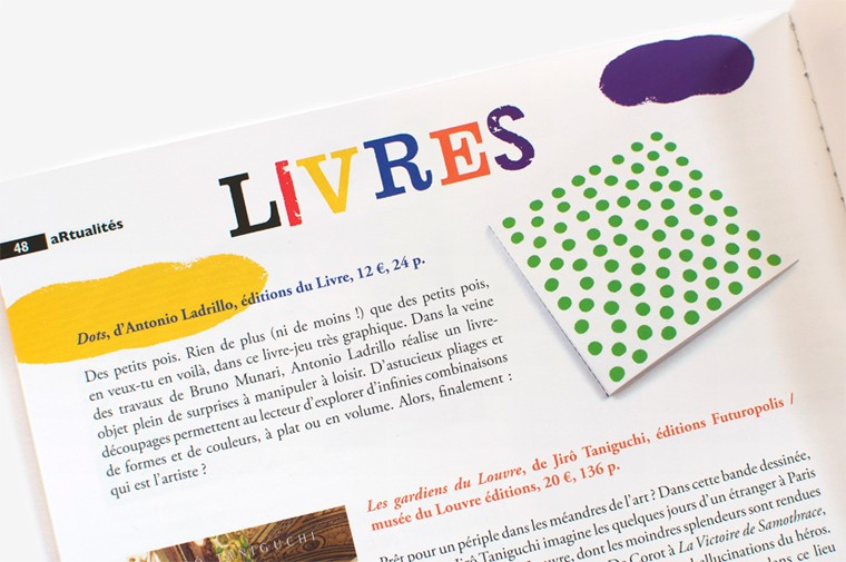 article about dots by antonio ladrillo published in revue dada n°199