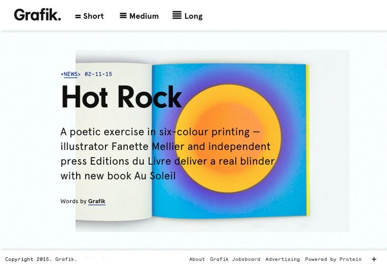 article hot rock paru sur grafik