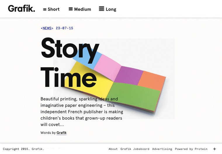 article story time paru sur grafik