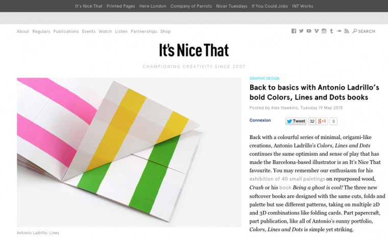 it's nice that's article back to basics with antonio ladrillo
