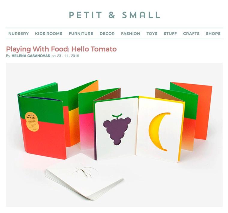 Article à propos du livre Hello Tomato sur le site internet Petit & Small